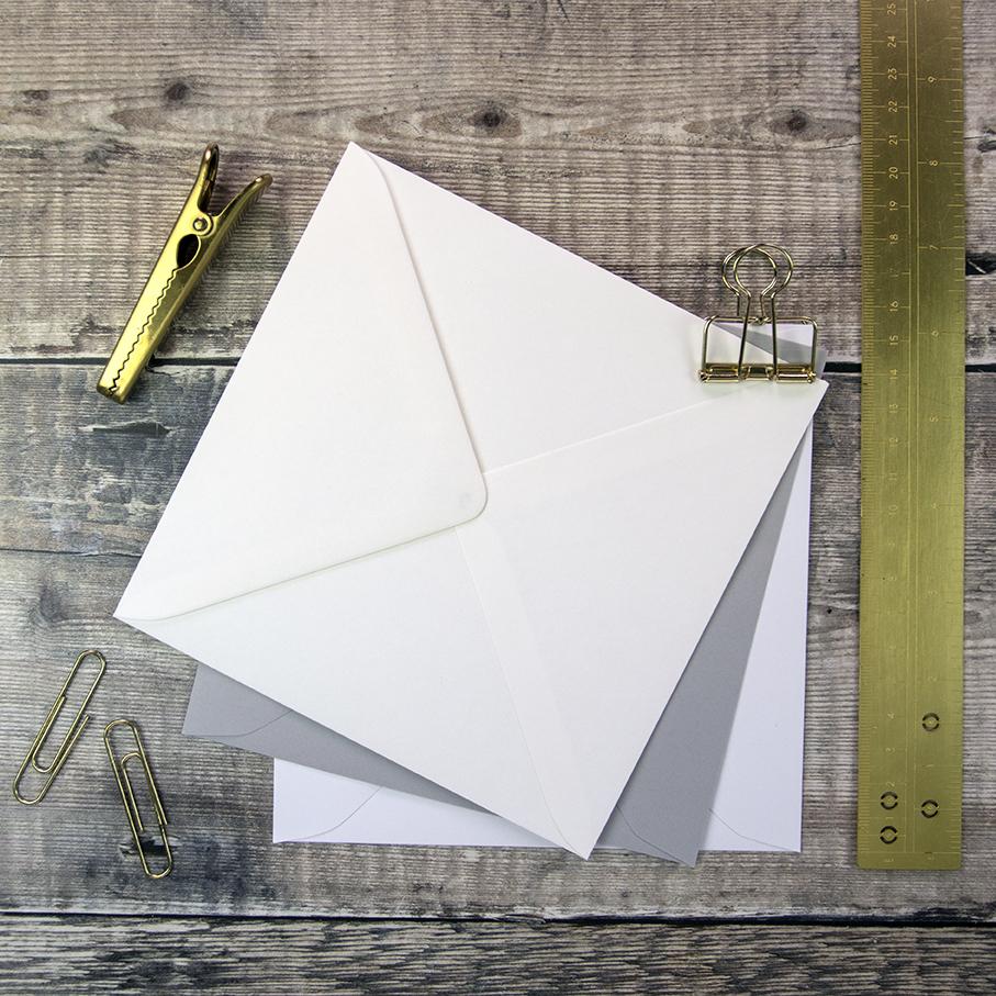 155mm Square Envelopes for Wedding Invitations.
