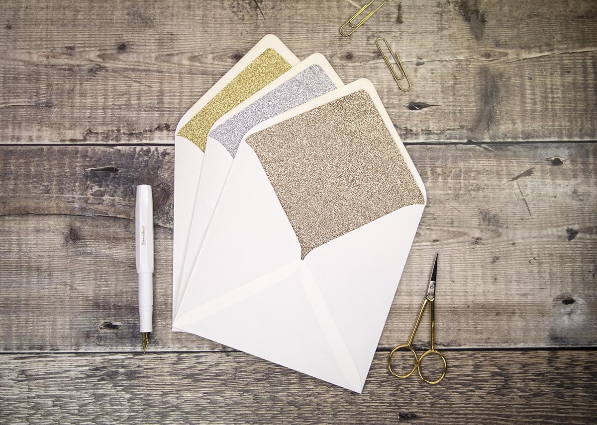 Glitter Envelope Liners.