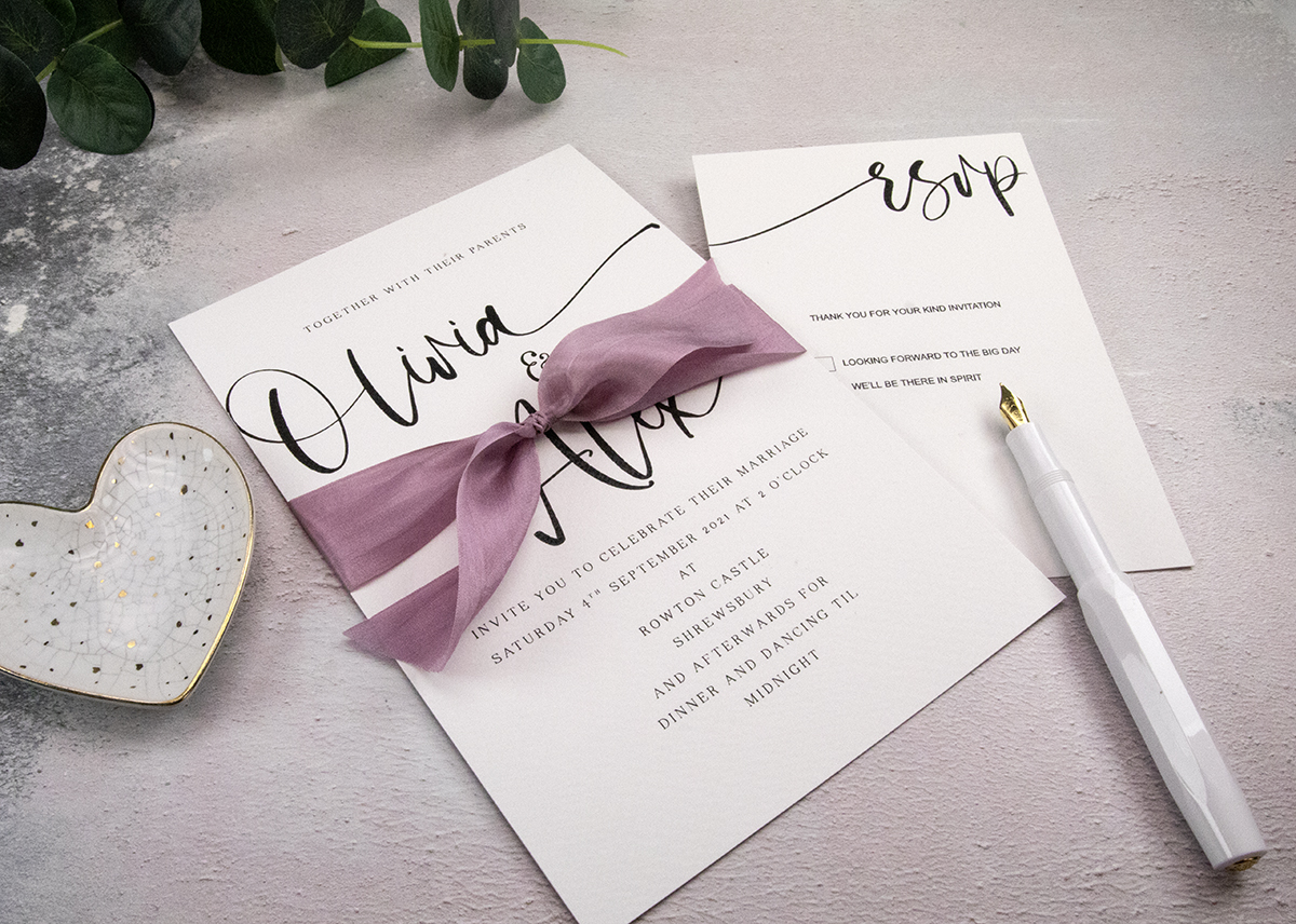 Including an RSVP card helps your guests to respond easily.