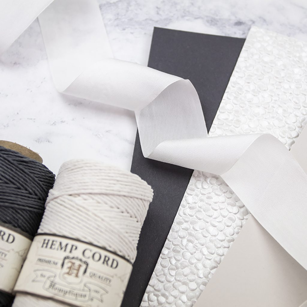 Craft Materials for making wedding stationery.