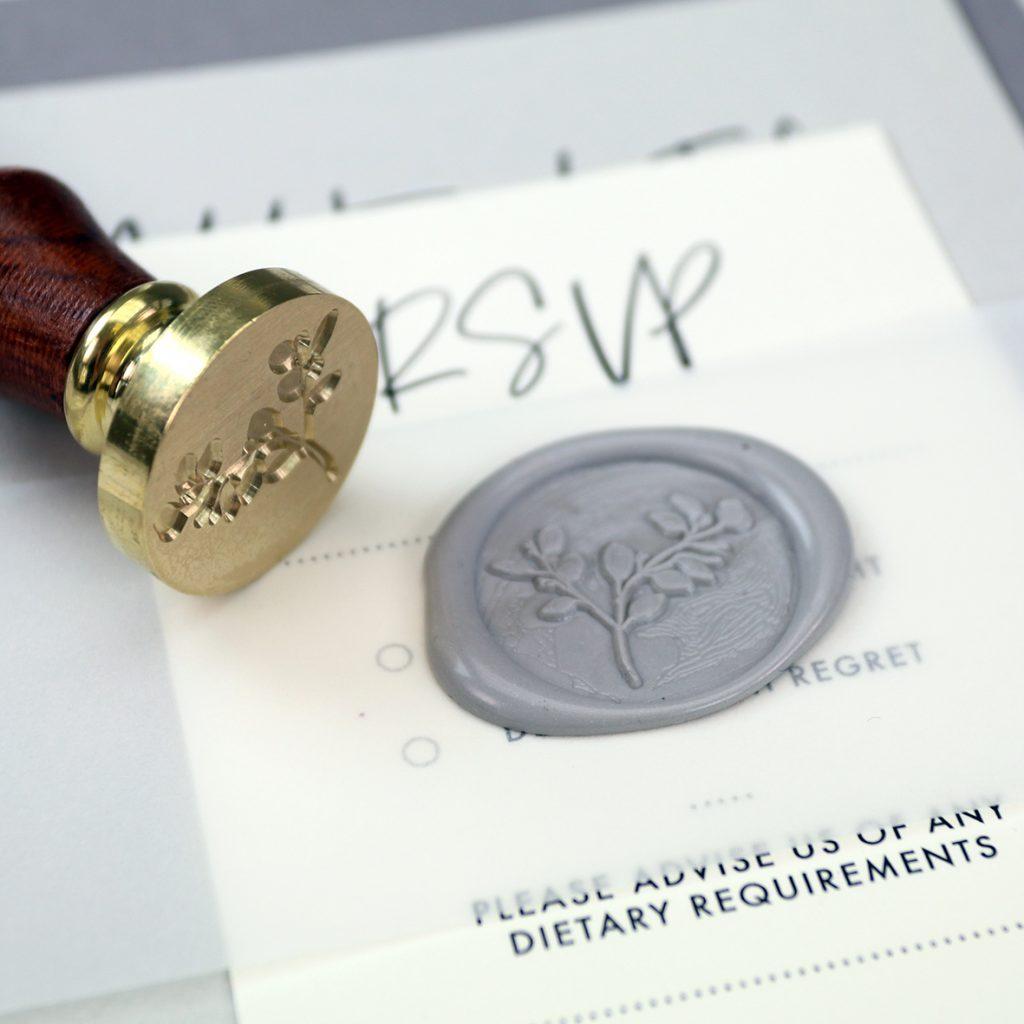 Wax Seal Stamp and Wedding Wax Seal.