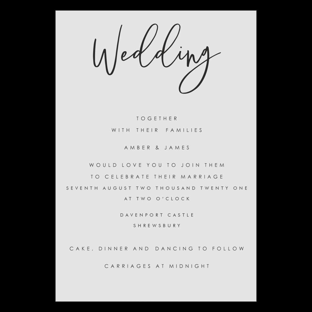 A5 Editable Postcard Wedding Invitation Template