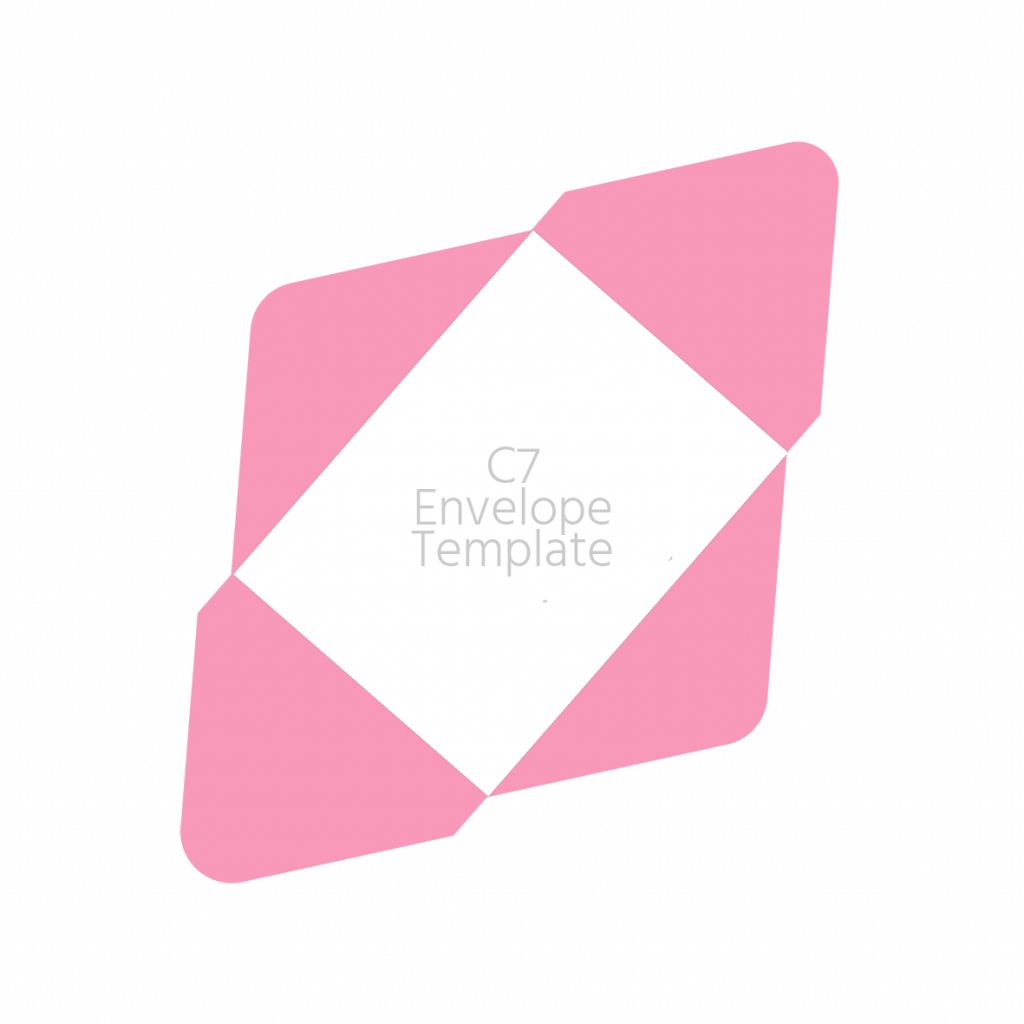 C7 envelope 83x112mm template