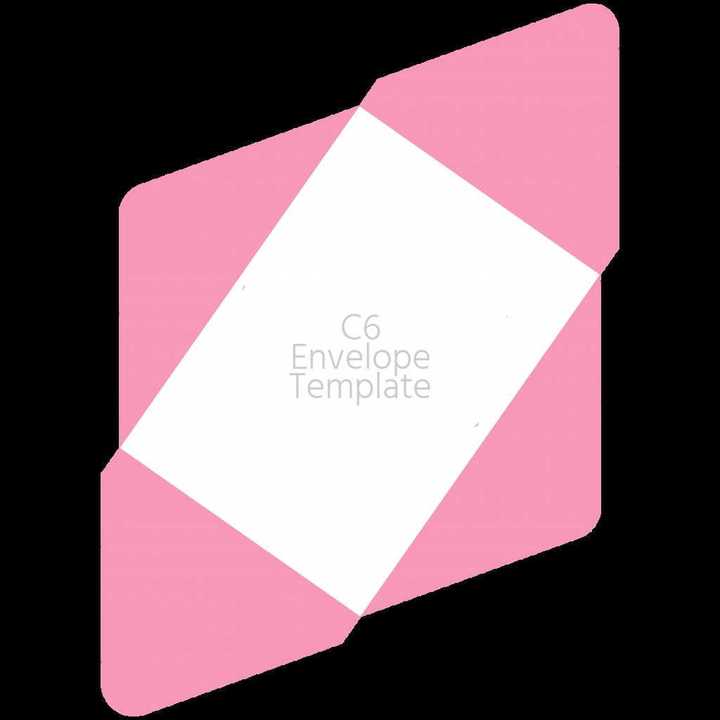 C6 envelope template