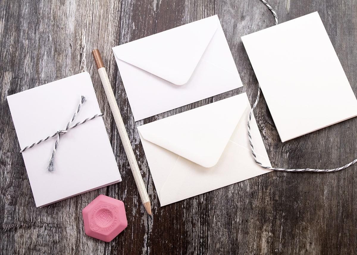 Envelopes for DIY wedding invitations