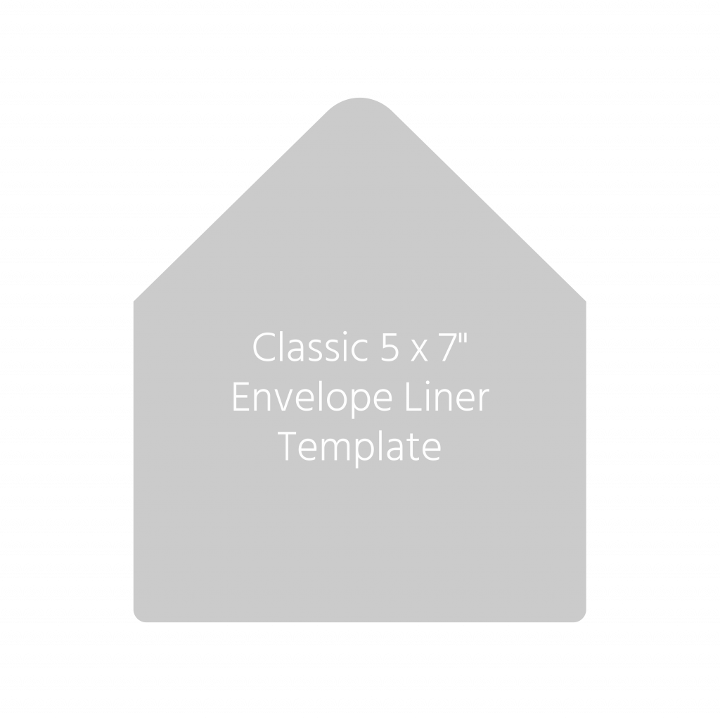 7 x 5 envelope liner template