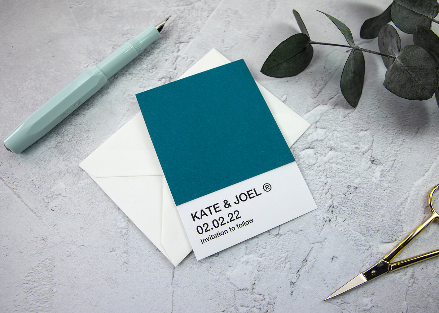 Pantone Save the Date Card